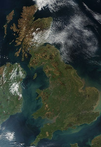 Auswandern England Karte