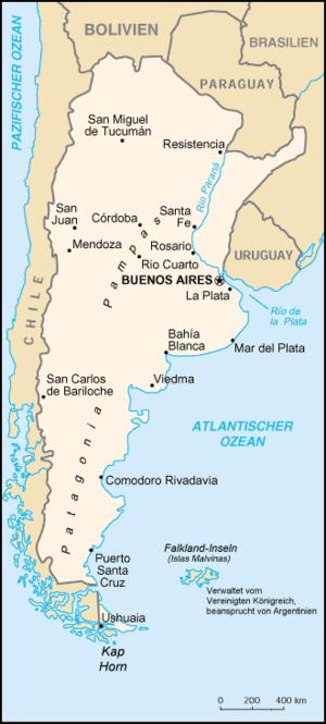Auswandern Argentinien Karte