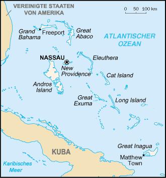 Auswandern Bahamas Karte