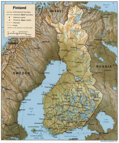 Auswandern Finnland Karte