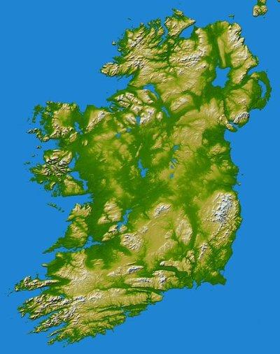 Auswandern Irland Karte