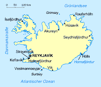 Auswandern Island Karte