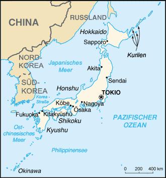 Auswandern Japan Karte