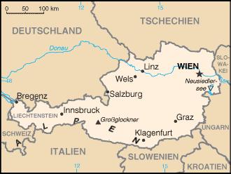 Auswandern Österreich Karte