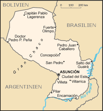 Auswandern Paraguay Karte