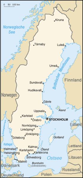 Auswandern Schweden Karte