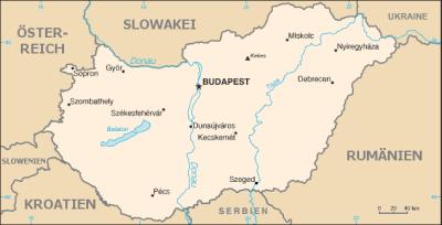 Auswandern Ungarn Karte
