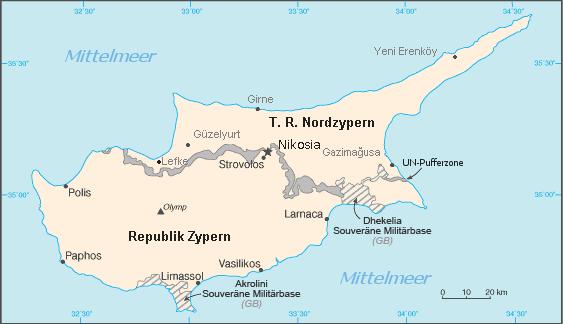 Auswandern Zypern Karte